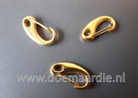 Metalen clipsluiting- musketonhaak, gold, 32 mm.