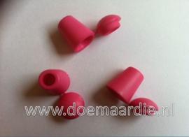 Koordeind, cord end, roze.