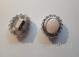 Klassieke schuifkraal quartz, pastel roze