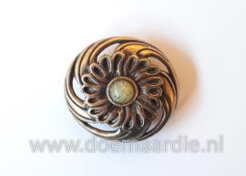 Concho, bloem, bronskleur 28 mm.