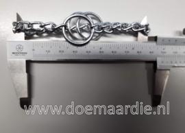 Triangel ketting, O ringen. ketting 99 mm