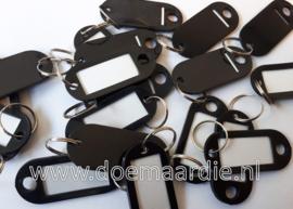Labels, sleutelhangers, per 10, zwart.