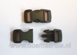 Buckle mini, klikgesp, army green, doorvoer 11 mm.
