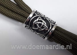 Trisikle, trinity, oud zilver, licht brons/goud