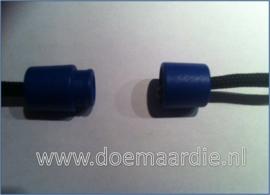 Plastic Breakaway Barrel Clasps, donker blauw.