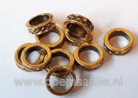 Rondel, Keltisch, goud kleurig, per 10.