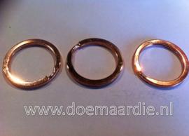 Sleutelhanger, plat. 22 mm binnen. Rose gold