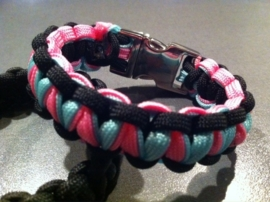 "Paracord bracelets, armbanden ""Multi color"""