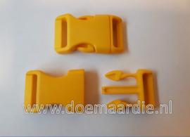 Buckle , klikgesp, Large, geel, doorvoer 20 mm.