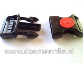 Steeksluiting met rode punt, maat L, doorvoer 25 mm.
