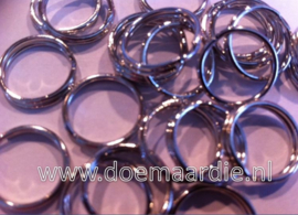 Splitringetjes, +/- 100 stuks, binnen 7 mm