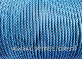 Paracord, 550 type 3,  Twist warm turquoise paars, vanaf 27 cent