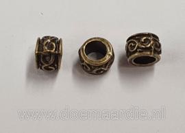 Kleine kraaltjes, Keltisch antiek messing, brons, per 10