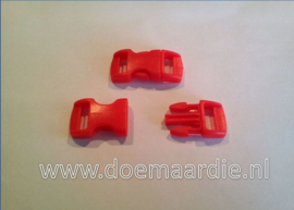 Buckle mini, klikgesp, rood, doorvoer 11 mm.