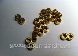 Metalen verdeler, oud goudkleur.