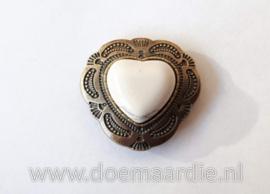 Concho, hart, bronskleur 30 mm.