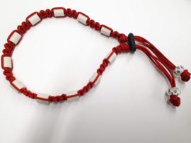 Tekenhalsband 34 cm. rood