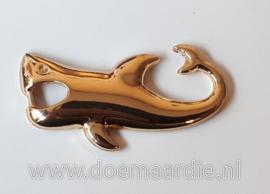Shark sluiting, goudkleur.