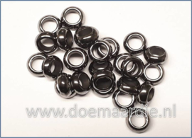Rondel black nikkel,  gat 5,5 mm per 30