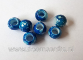 Kraal, verschillende tinten blauw. Per 20.