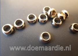 Rondel Acryl goud, 6 mm per 30.