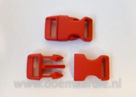 Buckle middel, klikgesp, rood, doorvoer 16 mm.