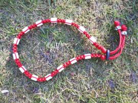 Tekenhalsband 45 cm. Rood.