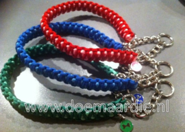 Hondenhalsband, king cobra met triangel ketting