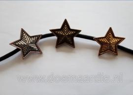 Concho ster. Zilver, oud goud en bronskleur.