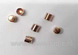DQ Metalen koord eind. Rose gold, 5 mm