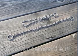 Slipketting, show/halsband. RVS. 60 cm dik 3,5.