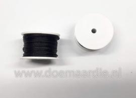 Navulspoeltje Gewaxed garen, zwart. 11,5 meter