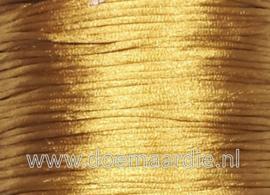 Satijn koord, golden yellow, 90 meter, 1,5 mm