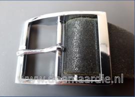 Gesp zilverkleur, 40 mm.