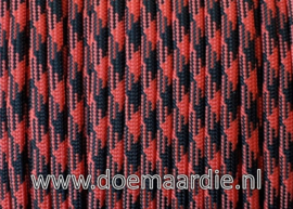 Paracord 550 Black Red, vanaf 29 cent per meter.