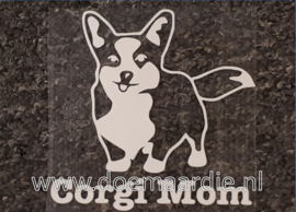 Corgi mom sticker.