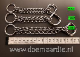 Half-check ketting RVS, 21 cm. Staffel per 5