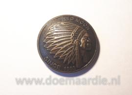 Concho, Indiaan, XL, bronskleur, 35 mm.