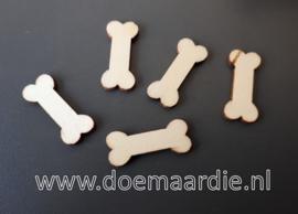 Houten blank houten hondenbotjes. ong 30 stuks