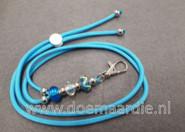 Keycord verstelbaar, blauw.