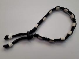 Tekenhalsband zwart,  32 cm.