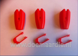 Touwklem, riemklem, rood, 8-10 mm.