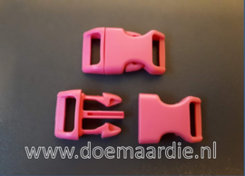 Buckle , klikgesp, Large roze, doorvoer 20 mm.