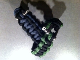 "Paracord bracelets, armbanden ""Duo color"""