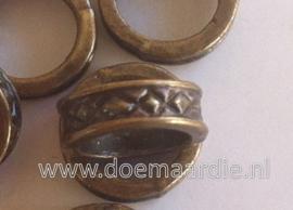 Rondel, Keltisch, bronskleurig per 10.