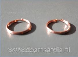 Splitringetje, rose gold. binnenmaat 11 mm (40 stuks).