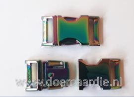 Buckle Fuel metal, klikgesp, doorvoer 20 mm.