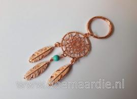 Dromenvanger sleutelhanger, turquoise quartz kraaltje.