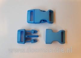 Buckle middel, klikgesp, licht blauw, doorvoer 16 mm.