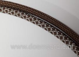 Paracord, 550 type 3,  Chocolat silver diamond, vanaf 27 cent